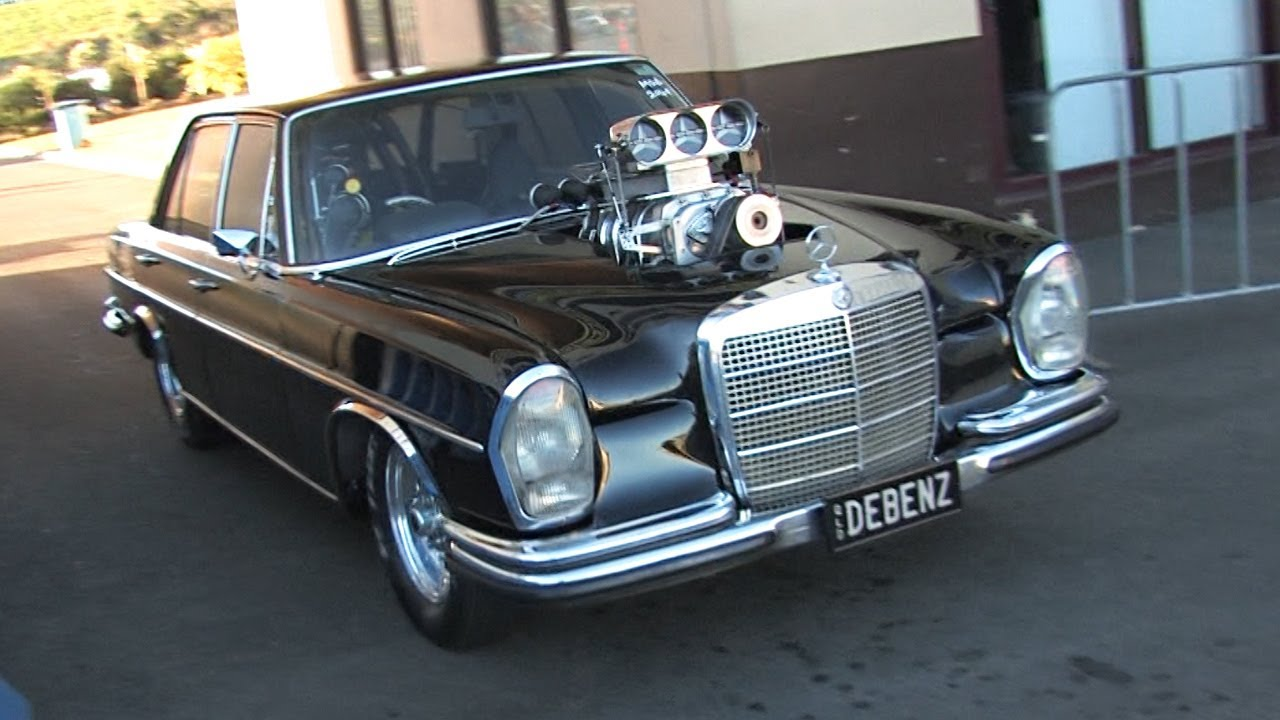 Check Out This Insane Old School Mercedes With A Small Block Engine Benz