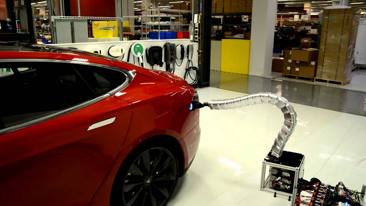 Look Into The Future As You Watch This Charger Prototype Find It S Way To Tesla Model