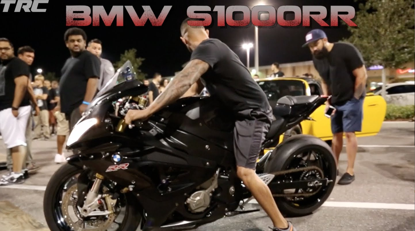 CRAZY BMW S1000RR Motorcycle And 1000HP Porsche Illegal Street Race In Dead Of Night
