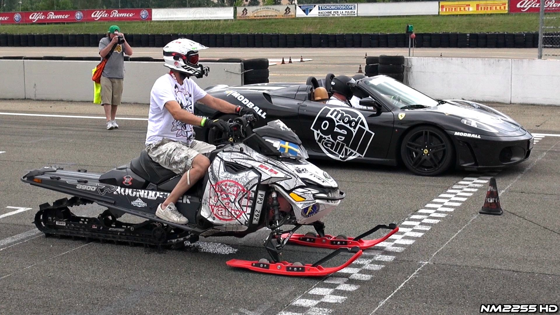 A BADASS Bagger Goes Up Against Mini Dragster And Suzuki Drag Bike