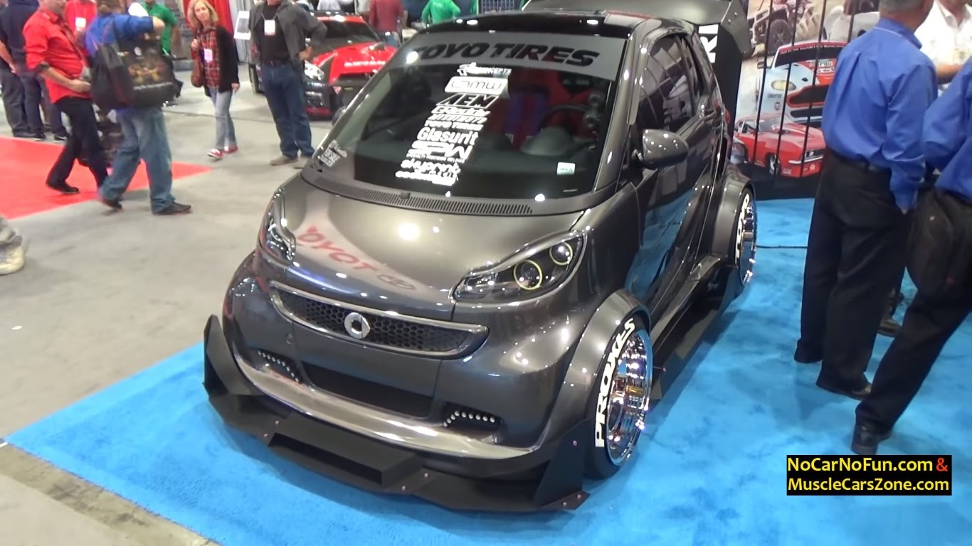 Check Out This COOL Custom Smart Electric Drive Car At SEMA - Cool custom cars