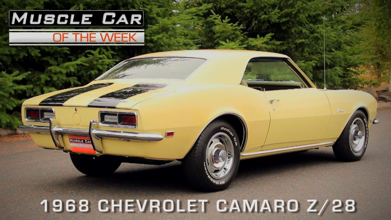 Find Out Why 1968 Chevrolet Camaro Z 28 Is One Of The Baddest Muscle Cars All Time