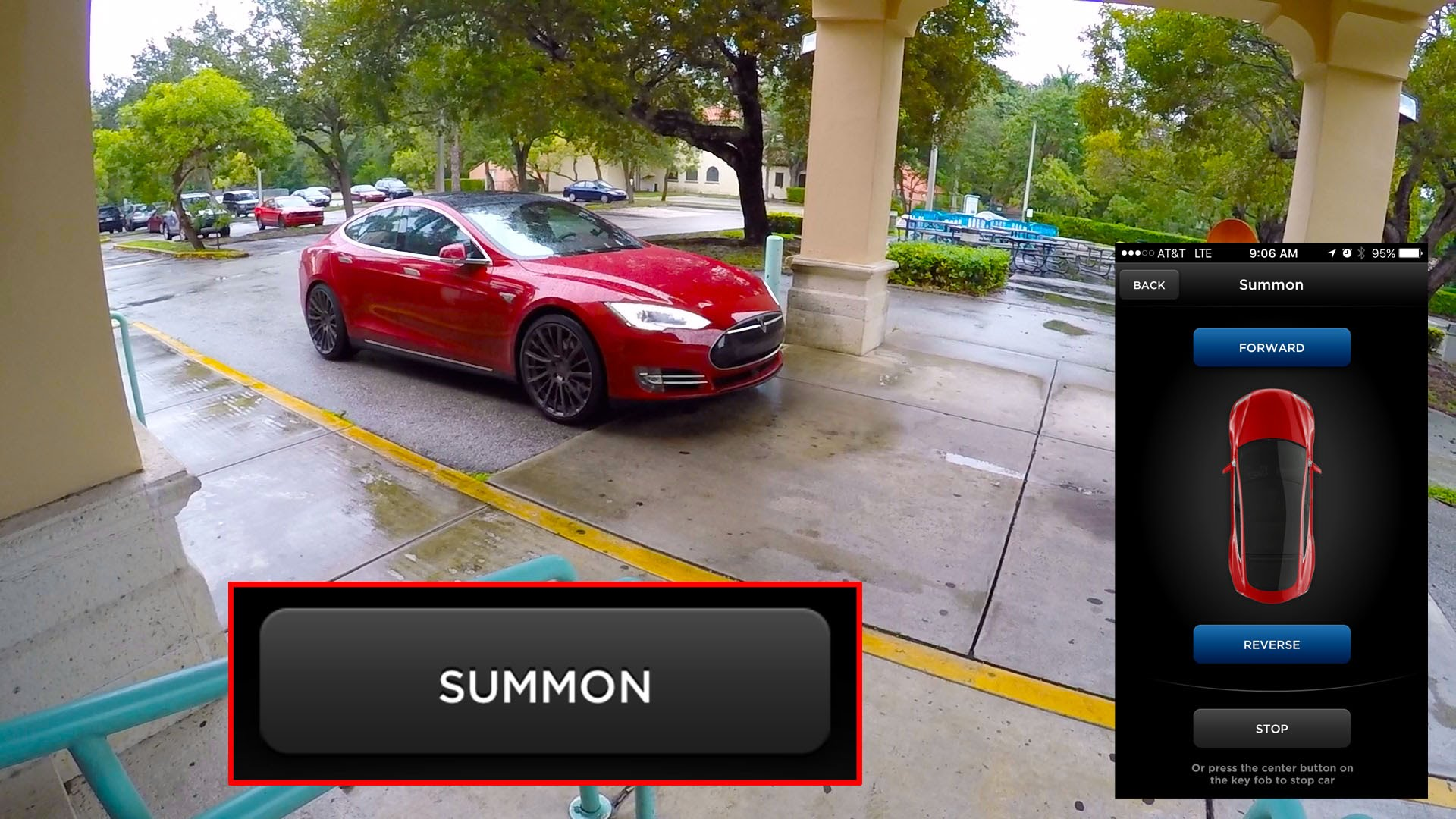 Tesla Model S Can Come To Pick You Up