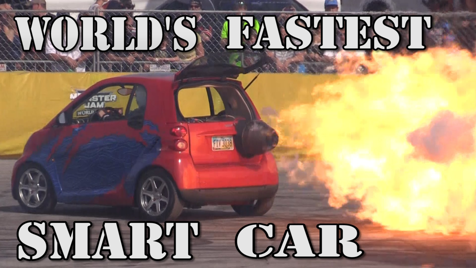 Smart Car Ed By A Jet Engine 1500 Horse Monster