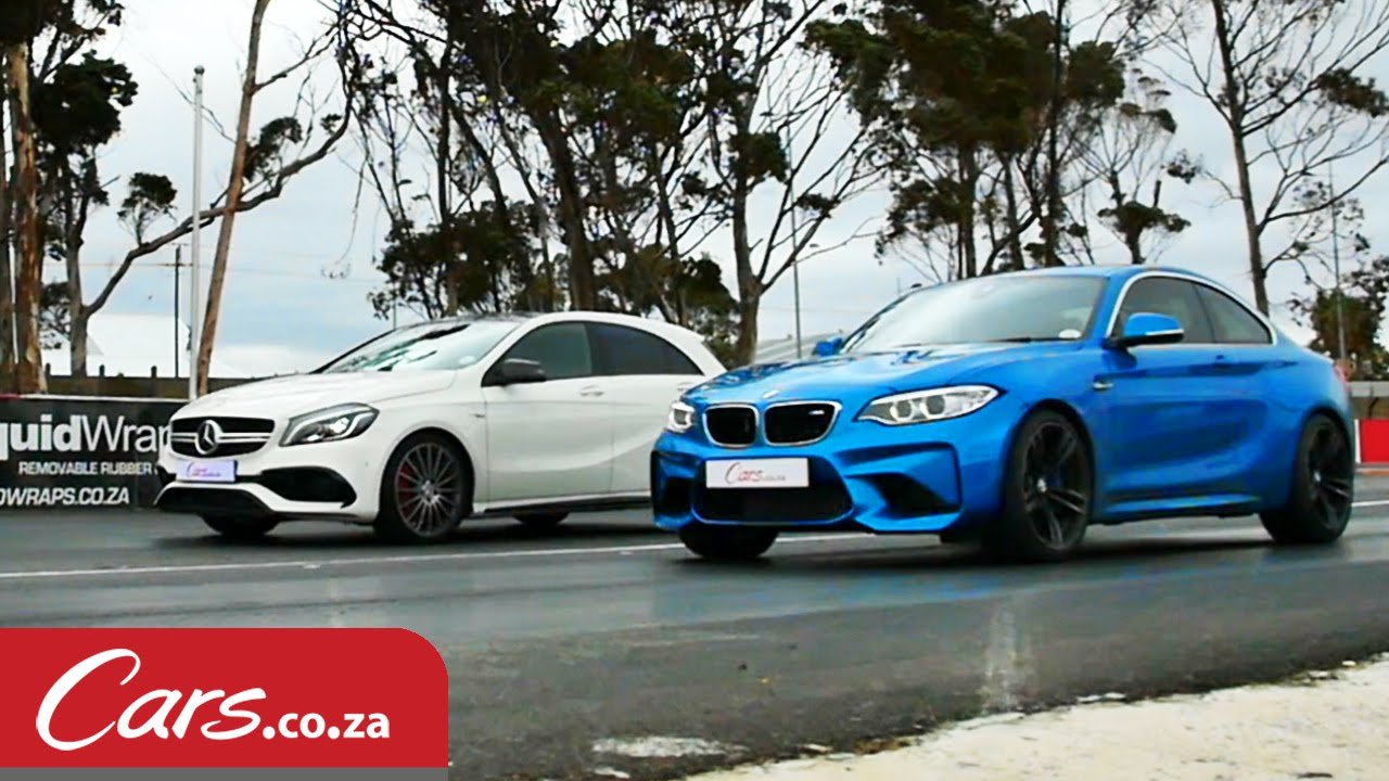 BMW M2 Vs. Mercedes A45 AMG Drag Race Needs Wicked Photo Finish
