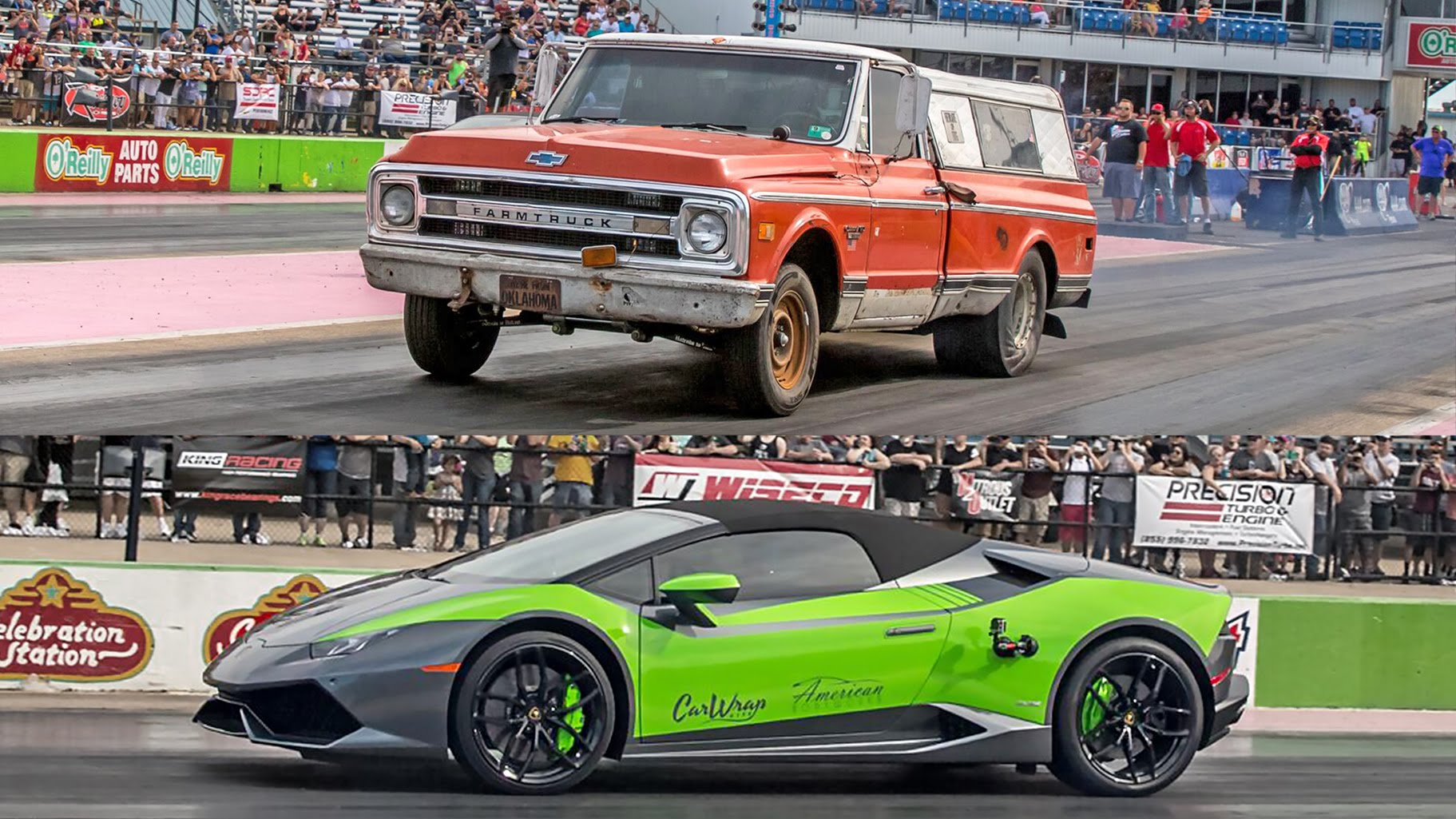Farmtruck Duels Lambo On The Dragstrip And The Results Will Shock You