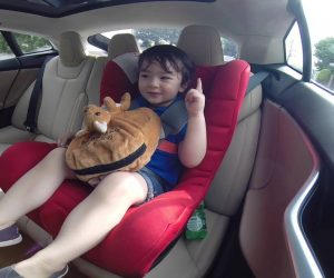 Adorable Toddler Experience's Tesla's Ludicrous Mode & Loves Every Second Of It!