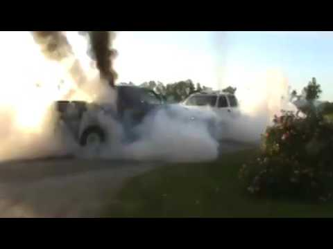 Cummins Powered Dodge Ram Vs Chevrolet Silverado Duramax In An INSANE Push Off War!