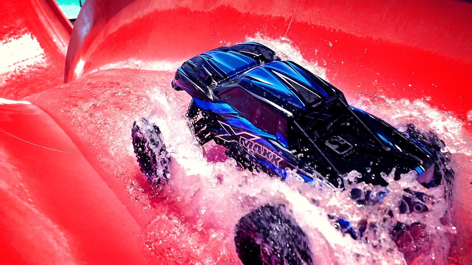 Don't Miss The Wild Action As Traxxas RC's Invade The Hawaiian Falls Water Park! EPIC!