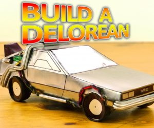 Learn How To Build An AWESOME DIY Replica Of The Back To The Future Delorean!