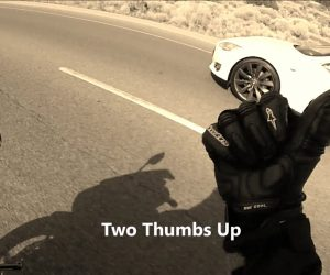 Wild Sports Bike Gets Annihilated By A Tesla Model S On The Streets!