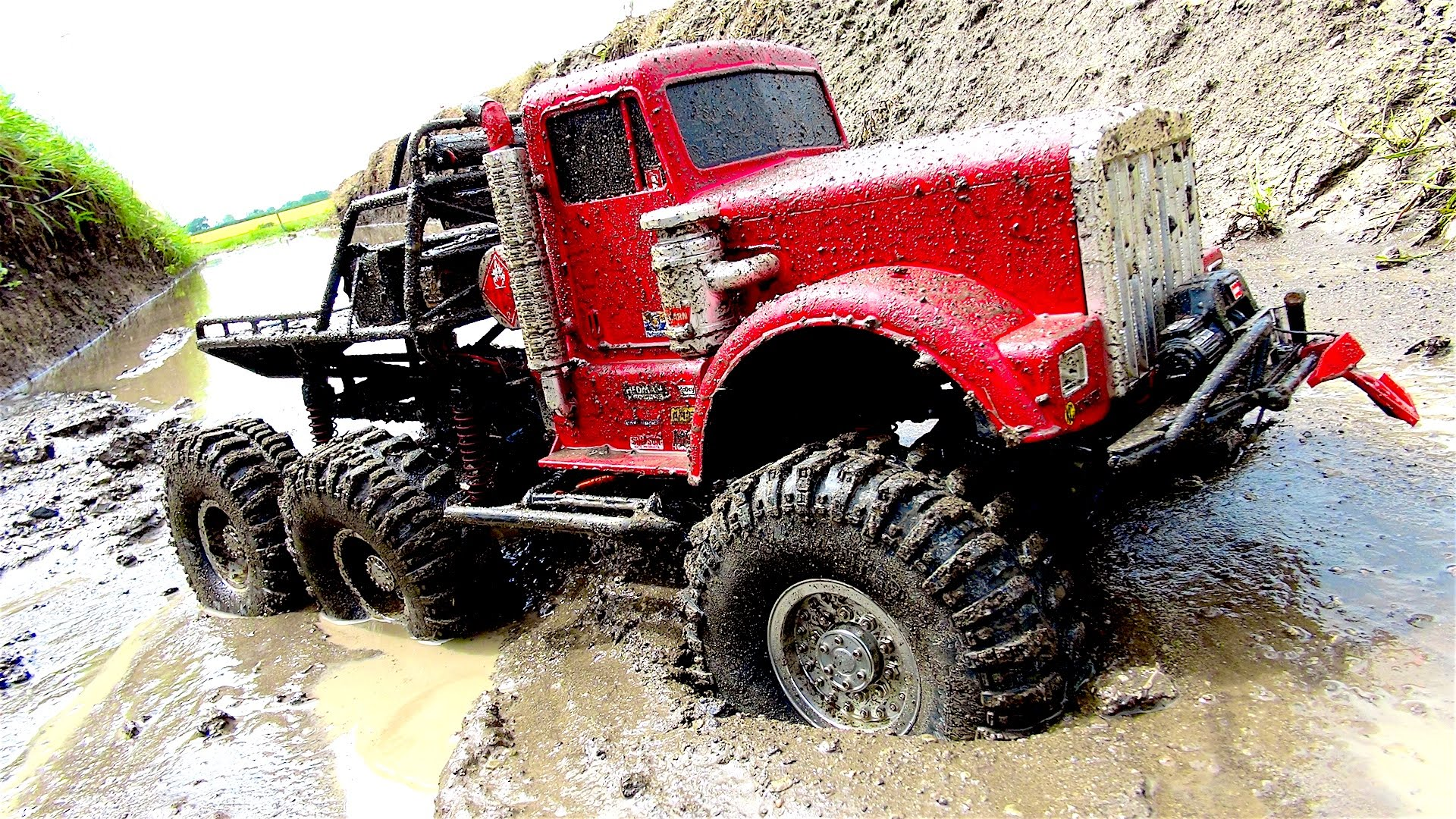 Big Red 6x6 Off Road Mud Action By Insane Rc Truck Will Blow You