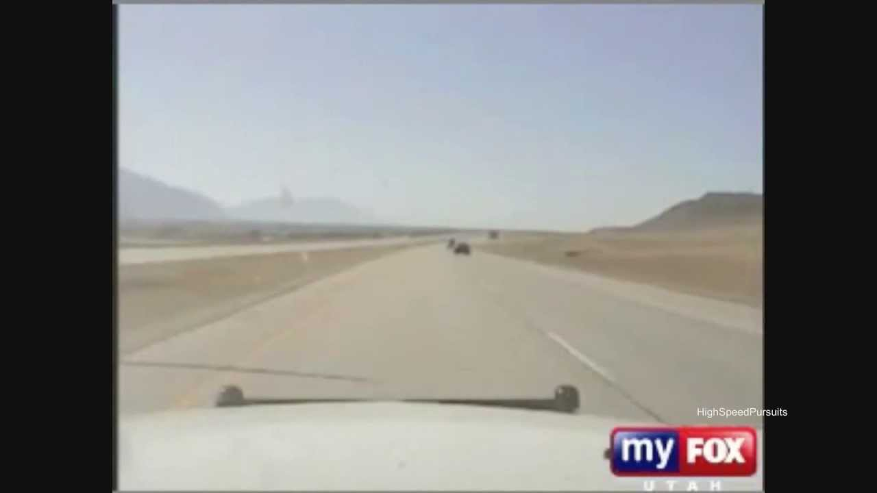 Crazy High Speed Police Chase Of Motorcycle @ 180+MPH On